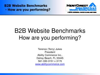 B2B Website Benchmarks - How are you performing?