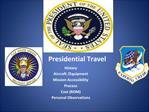 Presidential Travel
