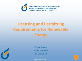 Licensing and Permitting Requirements for Renewable Energy