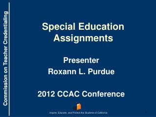 Special Education Assignments