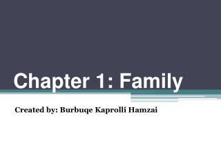 Chapter 1: Family