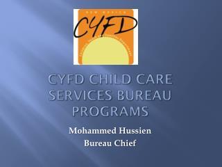 CYFD Child Care Services Bureau Programs