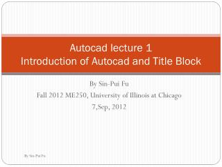 Autocad  lecture 1 Introduction of  Autocad  and Title Block