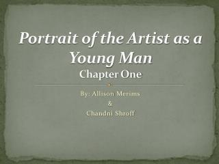 Portrait of the Artist as a Young Man  Chapter One