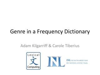Genre in a  Frequency  Dictionary