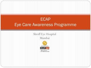 ECAP Eye Care Awareness Programme