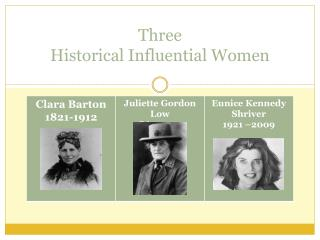 Three  Historical Influential Women