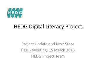 HEDG Digital Literacy Project