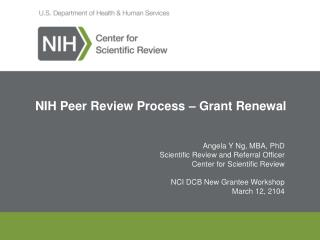 NIH Peer Review Process – Grant Renewal