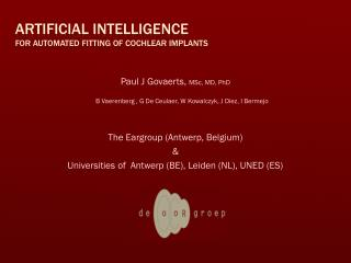 Artificial intelligence for automated fitting of cochlear implants