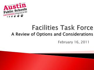 Facilities Task Force A Review of Options and Considerations