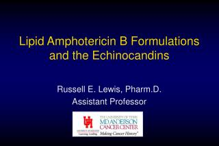 Lipid Amphotericin B Formulations and the Echinocandins