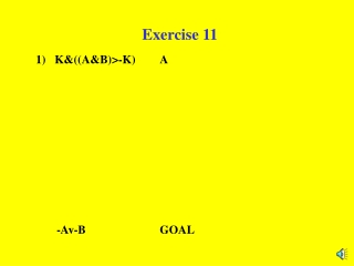 Exercise 11