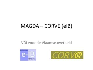 MAGDA – CORVE ( eIB )