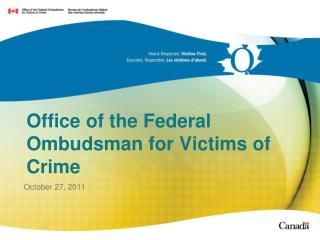 Office of the Federal Ombudsman for Victims of Crime