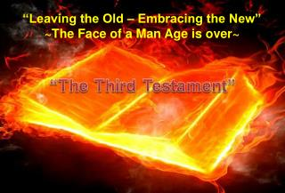 """Leaving the Old – Embracing the New"" ~ The Face of a Man Age is over~"