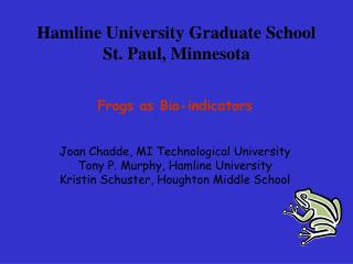 Hamline University Graduate School St. Paul, Minnesota