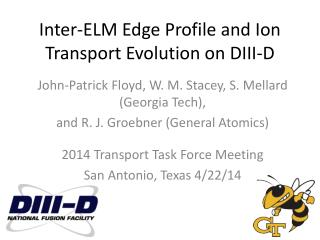Inter-ELM Edge Profile and Ion Transport Evolution on DIII-D