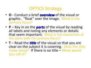 OPTICS Strategy
