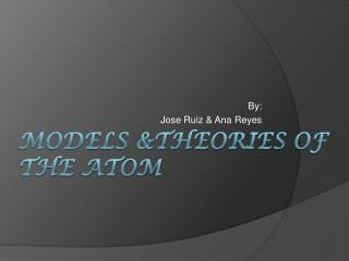 models &theories  of the atom