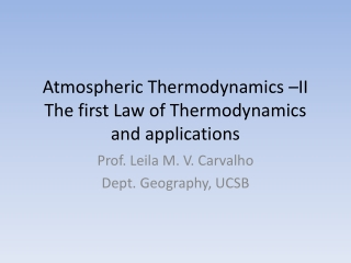 Change of State and Thermodynamics