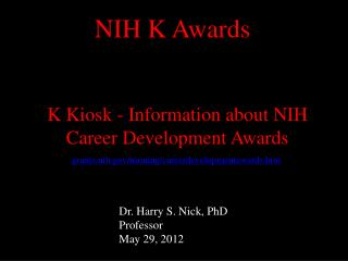grants.nih/training/careerdevelopmentawards.htm