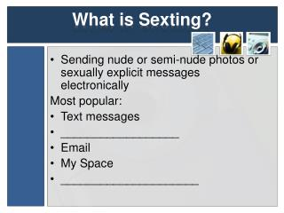 What is  Sexting ?