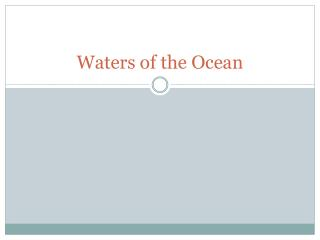 Waters of the Ocean
