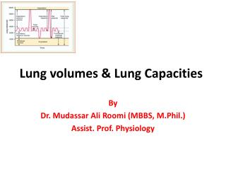 Lung volumes & Lung Capacities