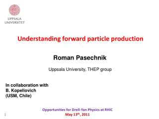 Understanding forward particle production