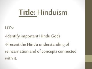 Title:  Hinduism