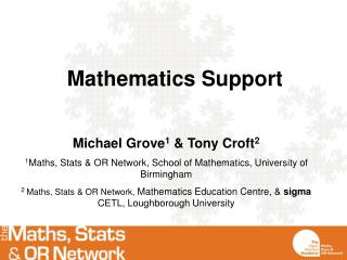 Mathematics Support