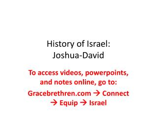 History of Israel: Joshua-David