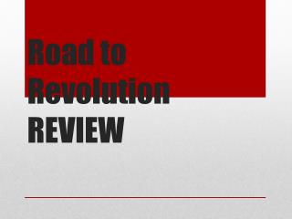 Road to Revolution REVIEW