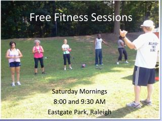 Free Fitness Sessions