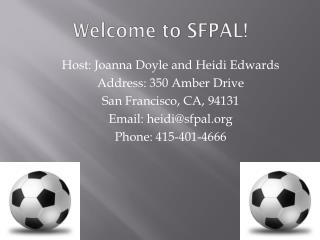 Welcome to SFPAL!