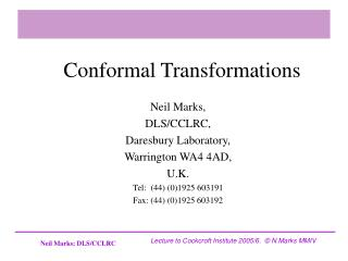 Conformal Transformations