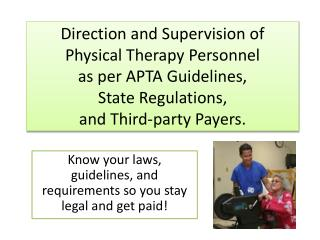 Know your laws, guidelines, and requirements so you stay legal and get paid!