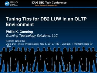 Tuning Tips for DB2 LUW in an OLTP Environment