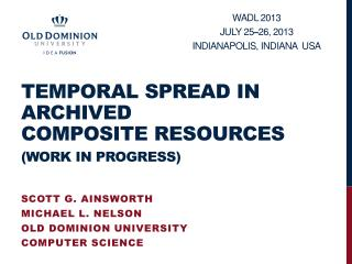 Temporal Spread In  Archived Composite Resources (work in progress)