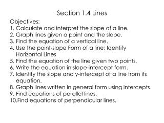 Section 1.4 Lines