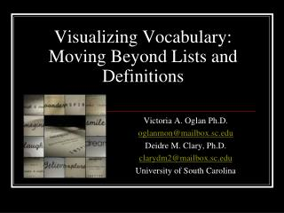 Visualizing Vocabulary: Moving Beyond Lists and Definitions