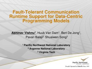 Fault-Tolerant Communication Runtime Support for Data-Centric Programming Models