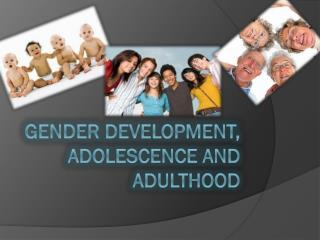 Gender Development, Adolescence and Adulthood