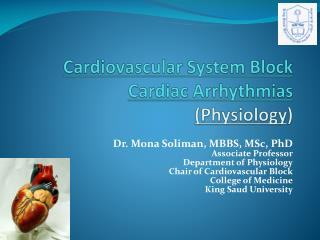 Cardiovascular System Block Cardiac Arrhythmias (Physiology )