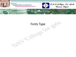 Fonts Type