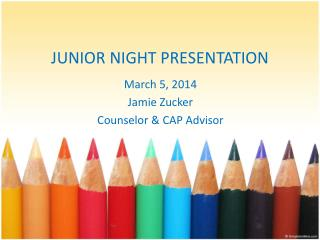 JUNIOR NIGHT PRESENTATION