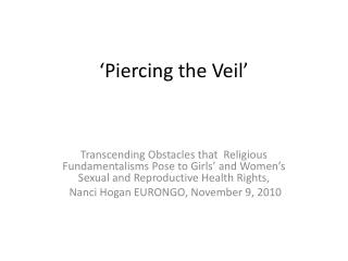 'Piercing the Veil'
