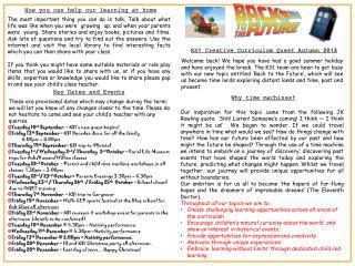 KS1 Creative Curriculum Quest Autumn 2013