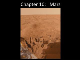 Chapter 10:   Mars